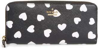 Kate Spade Cameron Street Hearts Lindsey Faux Leather Wallet