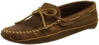 Minnetonka Men's Double Bottom Softsole Ankle-High Leather Flat Shoe - 12M