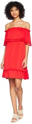 Kensie Slinky Knit Off the Shoulder Dress KS5K8196 Women's Dress