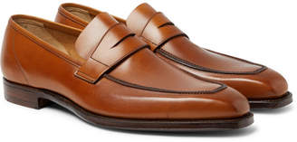 George Cleverley George Burnished-Leather Penny Loafers