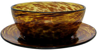 One Kings Lane Vintage Murano Tortoise Glass Vessels - Set of 2 - Retro Gallery