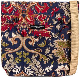 Engineered Garments Shoulder Pouch in Navy & Khaki | FWRD