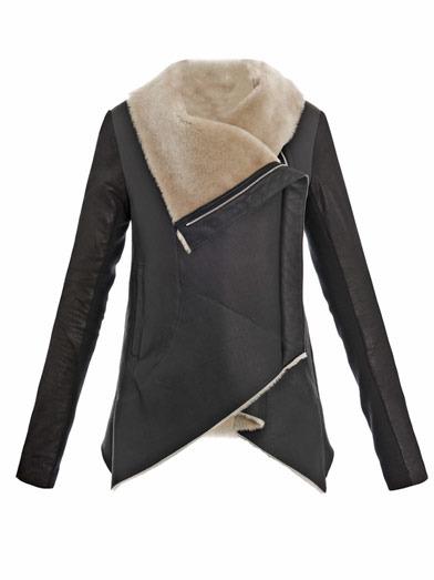 Anne Vest Contrasting sleeves shearling jacket