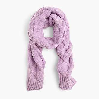J.Crew Loopy stitch oversized cable-knit scarf