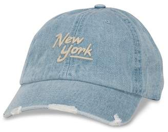 American Needle Round Up New York Embroidered Baseball Cap