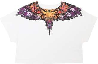 Marcelo Burlon County of Milan Butterfly Print Jersey Cropped T-Shirt