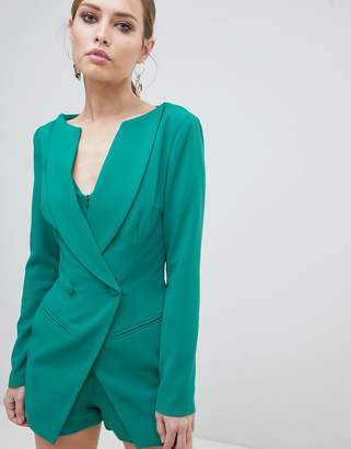 Lavish Alice Double Breasted Blazer Style Playsuit