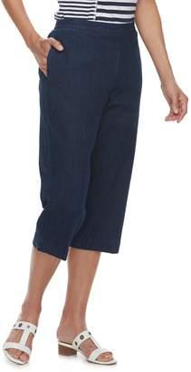 Alfred Dunner Women's Studio Pull-On Jean Capri Pants