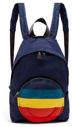 Anya Hindmarch Chubby Smiley Backpack - Womens - Navy Multi