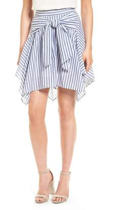 BP Stripe Tie Waist Skirt