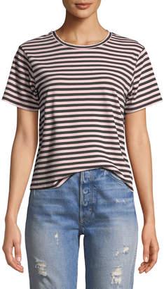 Amo Denim Classic Striped Short-Sleeve Crewneck Tee