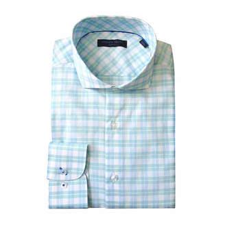 ANDREW FEZZE Andrew Fezze Long Sleeve Poplin Pattern Dress Shirt - Slim