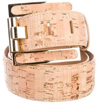 Kara Ross Cork Buckle Belt