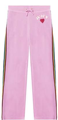 Juicy Couture Velour Rainbow Love Mar Vista Pant for Girls