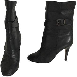 Jimmy Choo Leather buckled boots