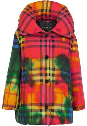 Burberry Tie-dye Vintage Check Down-filled Puffer Coat