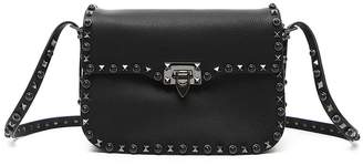 Valentino 'Rockstud - Noir' Calfskin Leather Shoulder Bag