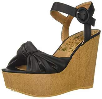 Qupid Women's LOVEBIRD-14A Wedge Sandal