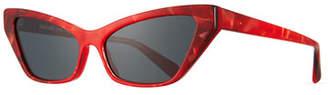 Cat Eye Alain Mikli Le Matin Acetate Cat-Eye Sunglasses