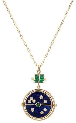 RETROUVAI Women's Grandfather Compass Pendant Necklace