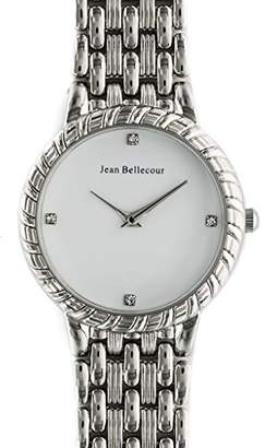 Jean Bellecour Unisex-Adult Quartz Watch, Analogue Classic Display and Stainless Steel Strap REDS21-SW