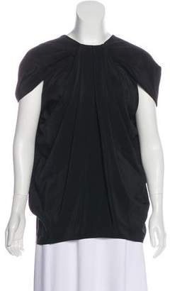Cushnie et Ochs Pleated Silk Top