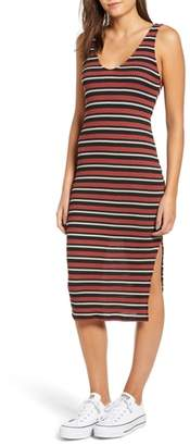 ALL IN FAVOR Stripe Knit Tank Dress