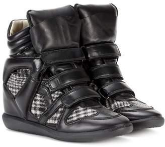Bekett leather wedge sneakers