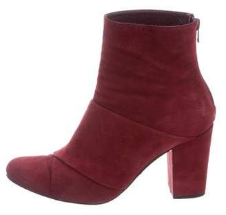 Opening Ceremony Suede Round-Toe Ankle Boots