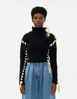 Acne Studios Kerri Lace-Up Wool Sweater