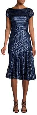 Theia Sequin Knee-Length Fit-&-Flare Dress