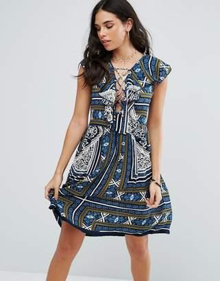 Raga Riviera Maya Printed Mini Dress