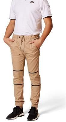 Rocawear Men's Stretch Twill Elastic Waist Slim Fit Jogger Pants