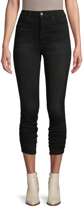 Joe's Jeans Gathered Hem Ankle Dark Jeans