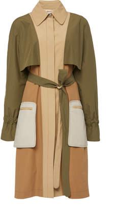 Rosetta Getty Grommet Sleeve Cotton-Blend Trench
