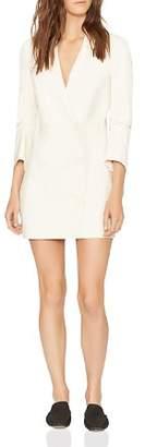 Halston Double-Breasted Lapeled Mini Dress