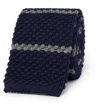 Canali 6cm Striped Knitted Wool Tie