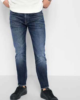 7 For All Mankind Luxe Sport Cropped Paxtyn in Authentic Euphoria with Raw Hem