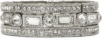 BIJOUX BAR Natasha Crystal Silver-Tone Stretch Bracelet $34.99 thestylecure.com