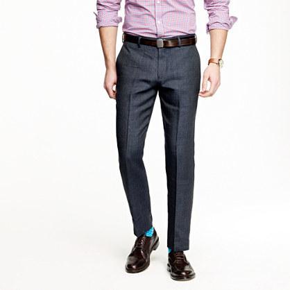 Ludlow slim suit pant in Italian linen-wool