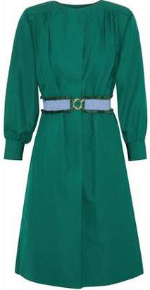 Derek Lam Belted Cotton-Poplin Dress