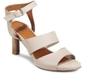 Aquatalia Basha Leather Ankle Strap Sandals