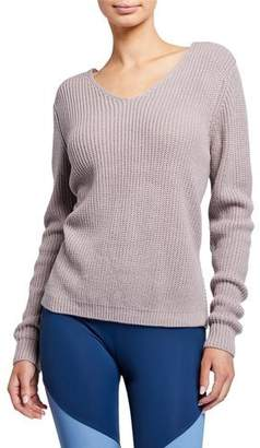 Onzie Ballet Twisted-Back Sweater