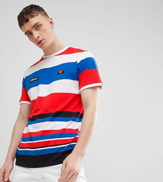 Ellesse Striped T-Shirt In White