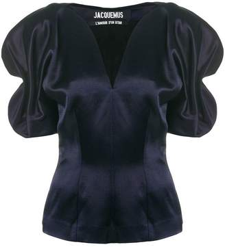 Jacquemus voluminous sleeve gathered blouse