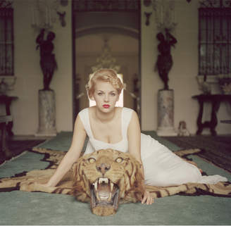 "Jonathan Adler Slim Aarons ""Beauty and The Beast"" Photograph"