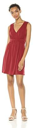 Wild Meadow Women's Sleeveless Draped V-Neck Jersey Maxi Dress M Cabernet