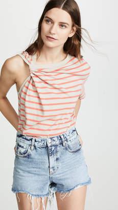 Alexander Wang Thin Stripe High Twist Top