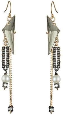 Alexis Bittar Stone And Chain Wire Earring