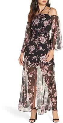 Ali & Jay Forever Floral Cold Shoulder Maxi Dress